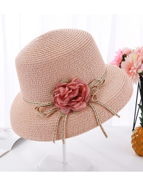 Fashion Pink Flower Curved Pot Hat