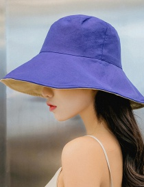 Fashion Navy Season Solid Color Double-sided Folding Cap