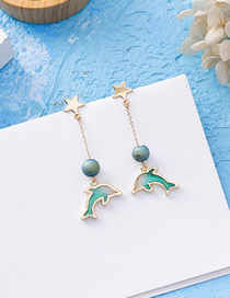 Fashion Star Dolphin Dolphin 925 Silver Stud Earrings