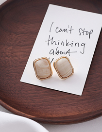 Fashion Beige Geometric Earrings