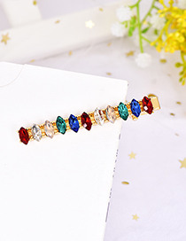 Fashion Color Alloy Water Droplets Drill Hair Clip