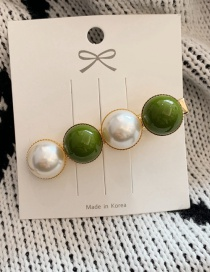 Fashion Pearl Section - Sen Green Peas Pearl Hairpin