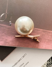 Fashion Golden Large Pearl Hairpin