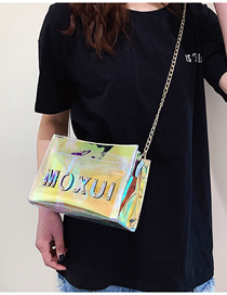 Fashion Color Laser Transparent Hand Shoulder Shoulder Scorpion Mother Bag