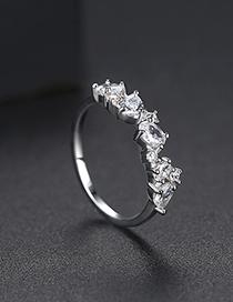 Fashion Platinum Micro-inlay Ring