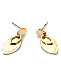 Fashion Gold Hollow Geometric Earrings