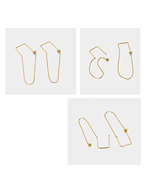 Fashion Gold Gold-plated Geometric Earrings