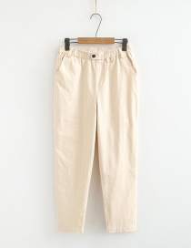 Fashion Beige Tooling Straight Pants