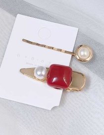 Fashion Red Oil Drop Hairpin