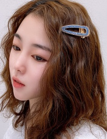 Fashion Blue Diamond Hair Clip