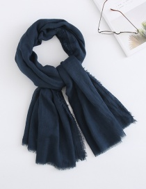 Fashion Navy Cotton Scarf Sunscreen
