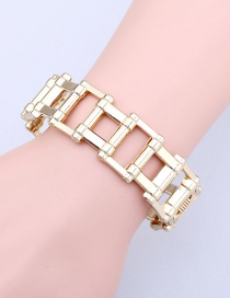 Fashion Gold Chain Smooth Open Bracelet
