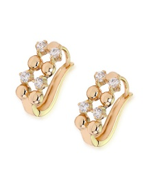 Fashion Gold Copper Inlaid Zircon Hollow Earrings