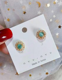 Fashion Blue Pearl Earrings
