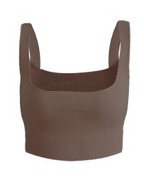 Fashion Brown Sling Vest