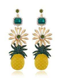 Fashion Yellow Pineapple Drip Earrings