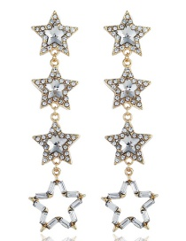 Fashion Gold Star-studded Earrings