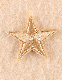 Fashion Sky Blue Embroidered Small Five-pointed Star Patch