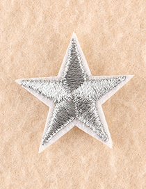 Fashion Gold Embroidered Small Five-pointed Star Patch