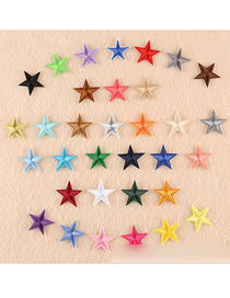 Fashion Color Embroidered Small Five-pointed Star Patch