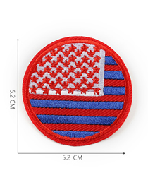 Fashion Red + Blue Embroidered Badge Patch