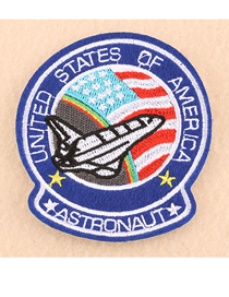 Fashion Blue Embroidery Badge Patch