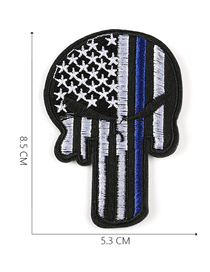Fashion Blue Embroidered Adhesive Tape Patch