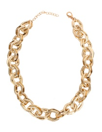 Fashion Gold Metal Thick Necklace