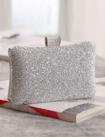 Fashion Silver Diamond Clutch