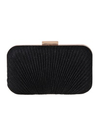 Fashion Black Hand Holding A Hard Shell Pleat Pack