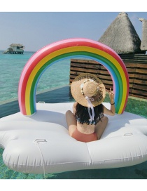 Fashion Inflatable Rainbow Floating Row Inflatable Row Riding Ring