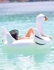 Fashion Small Inflatable Swan Floating Row Swim Ring