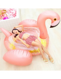 Fashion Sequins Rose Gold Flamingo Mount Inflatable Floating Row Mount Swimming Ring
