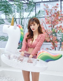 Fashion Small Thickened Unicorn Inflatable Floating Row Swim Ring