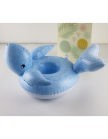 Fashion Blue Whale Cup Holder Inflatable Water Cup Holder