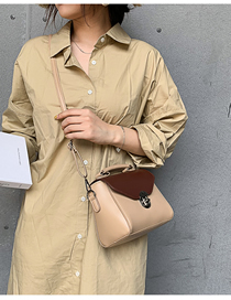 Fashion Khaki Portable Messenger Shoulder Bag