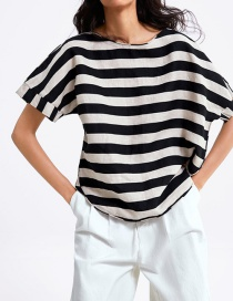 Fashion Stripe Striped Linen Top