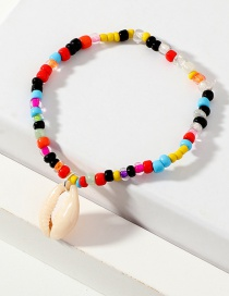 Fashion Color Rice Beads Shell Anklet