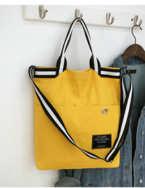 Fashion Yellow Riveted Portable Messenger Bag