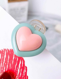 Fashion Light Green (girlish Heart) Geometric Hair Clip