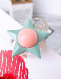 Fashion Light Green (small Sun Star) Geometric Hair Clip
