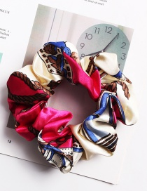 Fashion Satin Chain Rose Red Printed Hair Ring