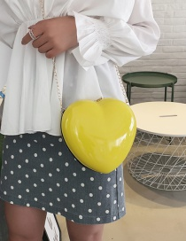 Fashion Yellow Heart Chain Shoulder Bag