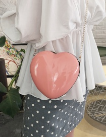 Fashion Pink Heart Chain Shoulder Bag