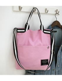 Fashion Pink Rivet Ribbon Stitching Shoulder Bag Shoulder Bag