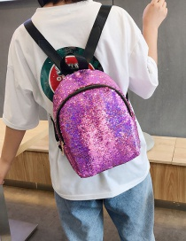 Fashion Purple Sequined Shoulder Bag