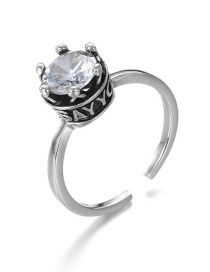 Fashion Silver Crown 925 Silver Open Ring
