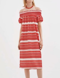 Fashion Red Red Striped Dress