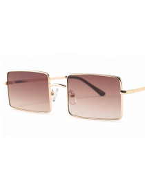 Fashion Tea Slice C2 Big Square Sunglasses