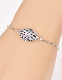 Fashion Silver Copper Inlaid Zircon Shell Bracelet